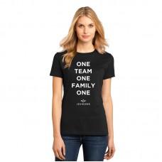 Женская Футболка One Team One Jeunesse